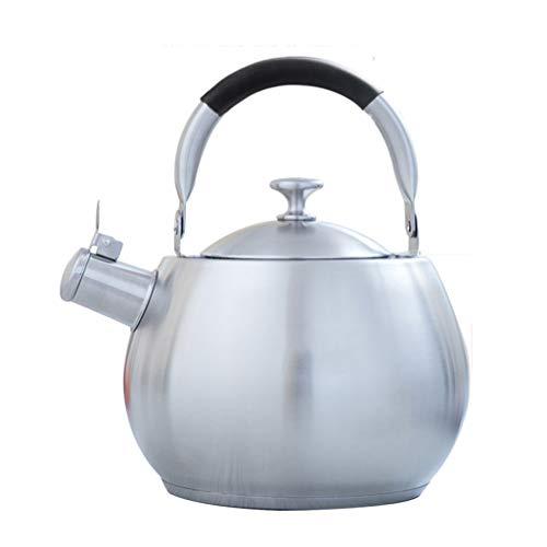 304 acier inoxydable bouilloire cuisinière à gaz épaississant sifflet appelé eau chaude maison cuisinière à induction de grande capacité UOMUN (Size : 3.5L)