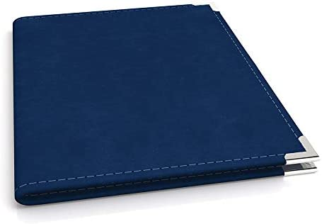 Executive VIP Padfolio Portfolio Faux Leather Nickel Corners 8 5 x 11 Writing Pad Blue product image