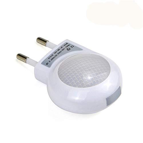 FORYOURS Toma De Luz Nocturna, Control De Luz LED En Línea Luz Nocturna Lámpara De Pared Caracol, Lámpara Nocturna LED para Niños, Blanco