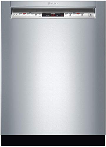 Bosch 800 Series Front Control Recessed Handle Dishwasher in Stainless Steel with Stainless Steel Tub,CrystalDry, 42dBA