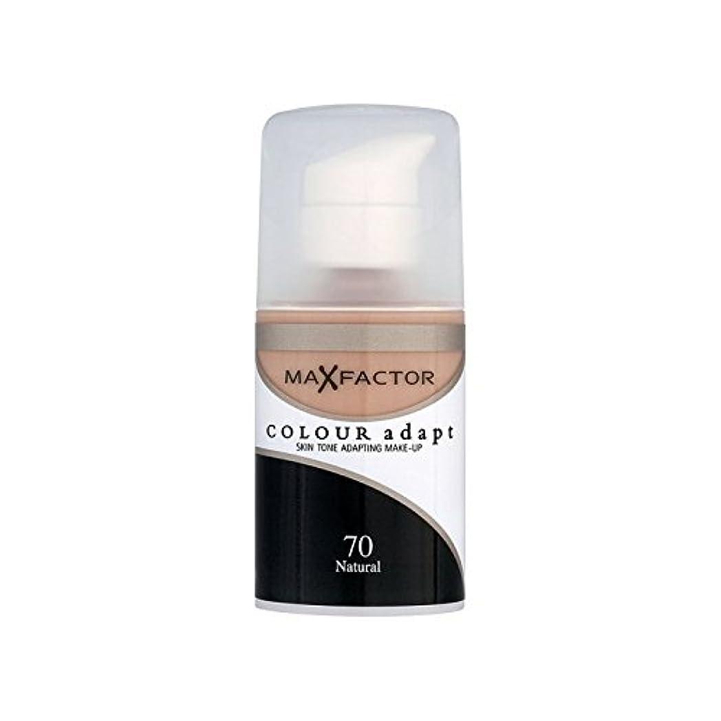 大惨事勇気のある忘れっぽいMax Factor Colour Adapt Foundation Natural 70 (Pack of 6) - マックスファクターの色は、基礎自然70を適応させます x6 [並行輸入品]