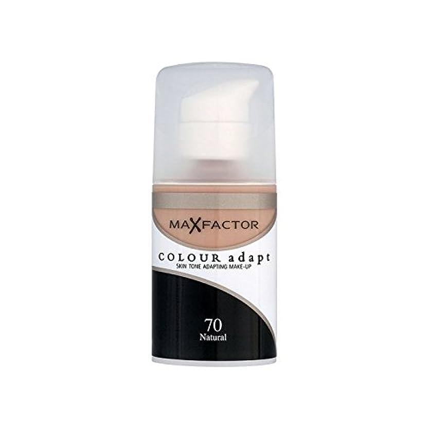 群れ提唱する錆びMax Factor Colour Adapt Foundation Natural 70 (Pack of 6) - マックスファクターの色は、基礎自然70を適応させます x6 [並行輸入品]