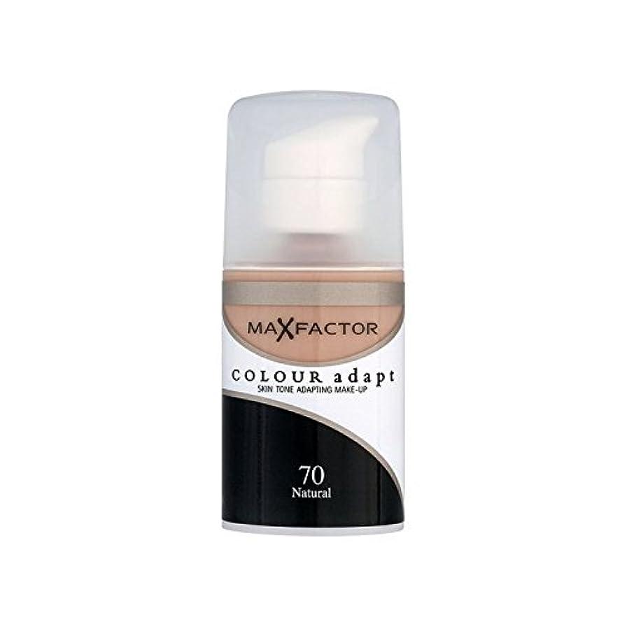 疑わしいアッパーマニアマックスファクターの色は、基礎自然70を適応させます x2 - Max Factor Colour Adapt Foundation Natural 70 (Pack of 2) [並行輸入品]