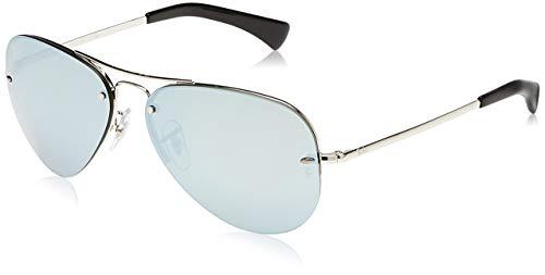 Ray-Ban 3449 Gafas de sol, Silver, 59 para Hombre