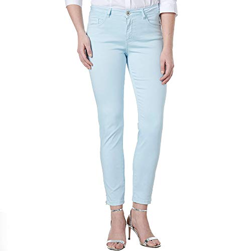 COLAC Damen Jeans Jenny hellblau mit Zip (W40/L29)