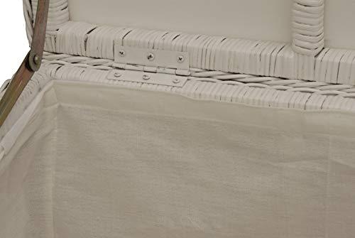 Spielzeugtruhe/Wäschetruhe aus Rattan in der Farbe grau groß - 6