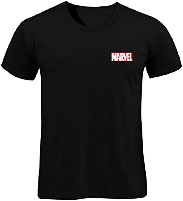 YKDDJJ T-Shirt Drucke T-Shirt Mnner Tops Tees Hochwertige Kurzarm Casual Mnner T-Shirt Marvel T-Shirts Mnner Leicht Und Atmungsaktiv M SCHWARZ-MWX