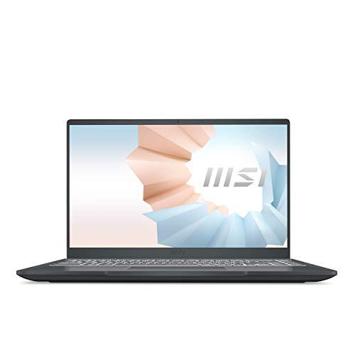 "MSI Modern 14 B11SB-008ES - Ordenador portátil de 14"" FullHD (Intel Core i7-1165G7, 16 GB RAM, 1 TB SSD, NVIDIA GeForce MX450, Windows 10 Home Plus) Carbon gray - Teclado QWERTY Español"