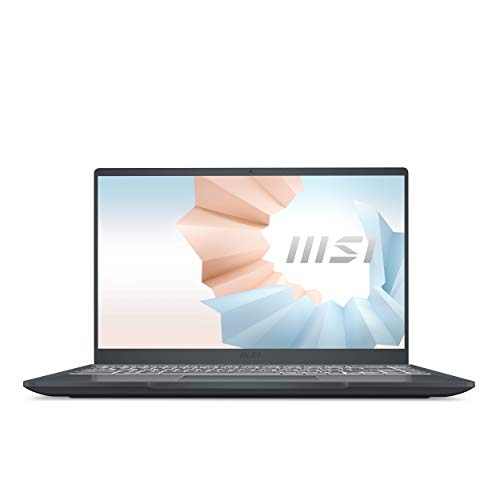 MSI Modern 14 B11SB-008ES - Ordenador portátil de 14' FullHD (Intel Core i7-1165G7, 16 GB RAM, 1 TB SSD, NVIDIA GeForce MX450, Windows 10 Home Plus) Carbon gray - Teclado QWERTY Español