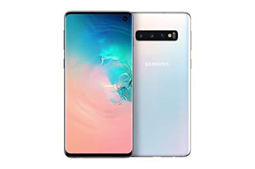 Samsung Galaxy S10 Smartphone Bundle (15.5cm (6.1 Zoll) 128 GB interner Speicher, 8 GB RAM, Dual SIM, Android, prism white) inkl. 36 Monate Herstellergarantie [Exklusiv bei Amazon]   Deutsche Version