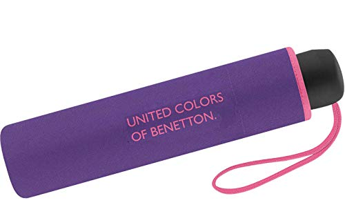 United Colors of Benetton Paragua clásico Morado Ultravioleta 95 cm