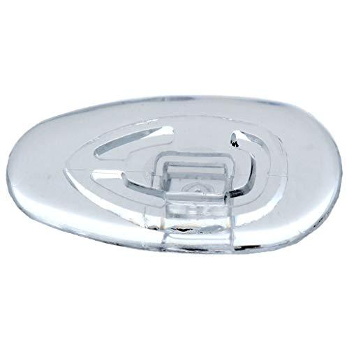 2 Paar (4 Stück) Nasenpads/Brillenpads - Silikon Klicksystem, verschie. Größen (Tropfen 17mm)