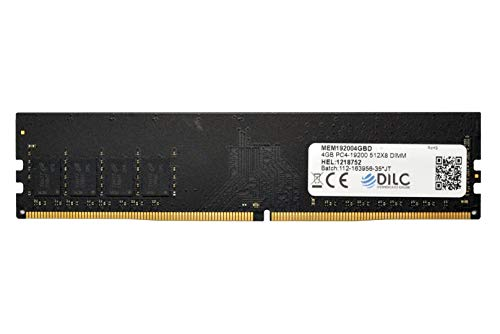 DILC RAM Dimm DDR4 4GB 2400Mhz PC4-19200 (288 Pin) Single Rank 512x8 Memoria Computer Desktop