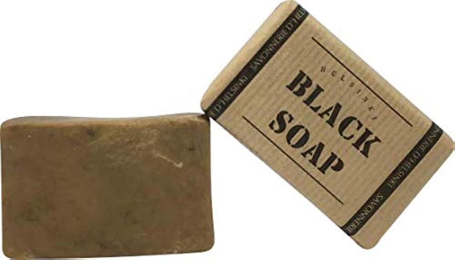 素人連隊ロック解除89028 The BLACK SOAP (ブラックソープ) 80g 【Helsinki Soap Factory (ヘルシンキソープファクトリー)】