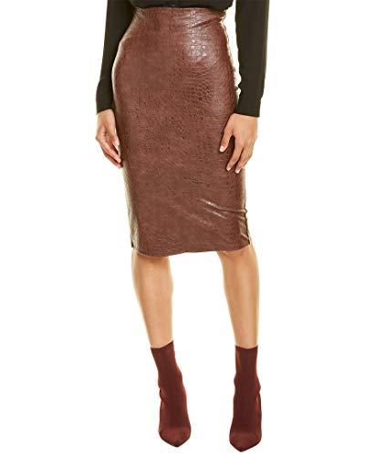commando Womens Animal Midi Skirt, Xs, Brown