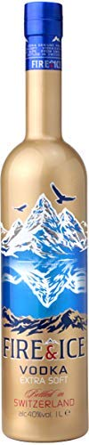 Fire & Ice Swiss Vodka Extra Soft Filtered With Genuine Gold 1x1Litre 40%