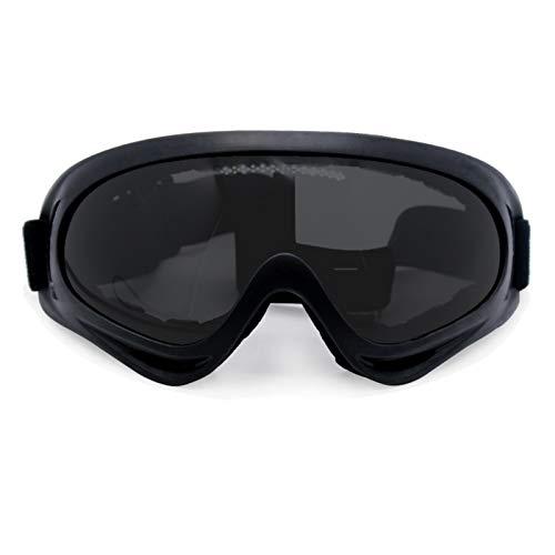 Gafas de la Motocicleta Nordson Retro Motocicleta Gafas Gafas Vintage Motocicleta Gafas Deportes al Aire Libre Cuero para Harley Aviator Gafas (Color : Goggles Style 13)