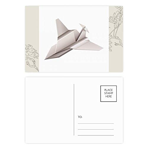Origami Geométrico Abstracto Patrón De Aviones Flor Postal Set De Tarjetas De Gracias Lado De Correo 20pcs