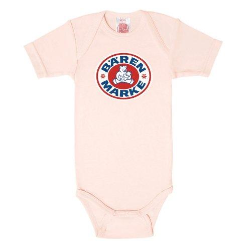 Logoshirt - Bärenmarke Babybody, light pink, Größe:50/56