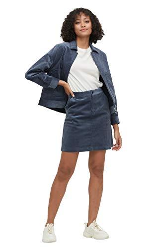 LilySilk Zijden Jas en Rok A Lijn 2st Outfit Corduroy voor Vrouwen en Dames Zachte 100 Zijde Voering