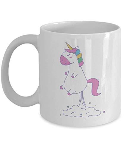 N\A Taza de Pedos de Unicornio - Taza de café Divertida - Regalos de Cesta de Agradecimiento para el Aniversario de cumpleaños de Navidad