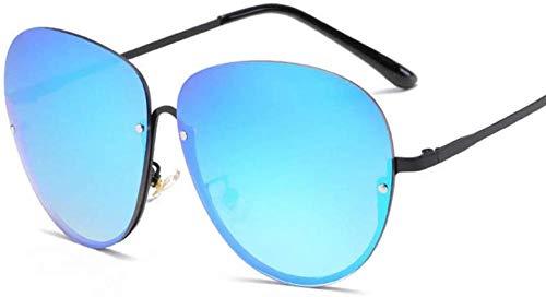 ZYIZEE Gafas de Sol Gafas de Sol Retro para Mujer Lentes Reflectantes de Color de Espejo Gafas Unisex clásicas para Hombre Gafas para Mujer Uv400-AZUL