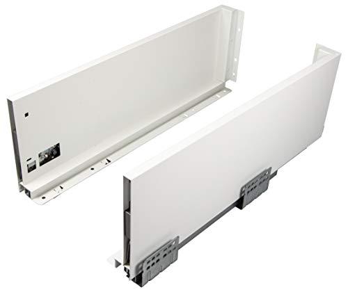 Gedotec - Rieles para cajones de 300 mm, sistema de cajones con amortiguación, altura de los marcos de 120 mm