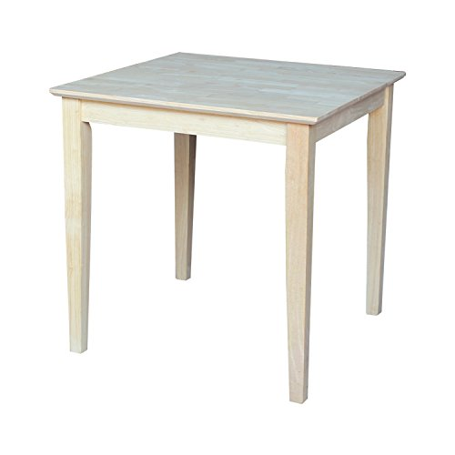 International Concepts Square Solid Wood Top Table with Shaker Legs, 30-Inch