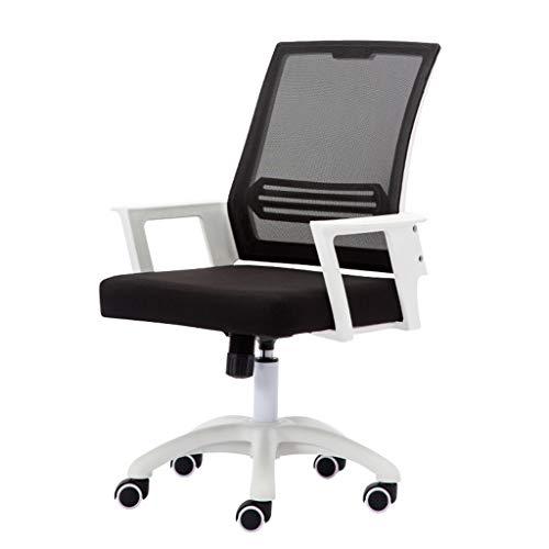 Comif- Home Office Computerstoel, Mesh bureaustoel, synchrone kantelmechanisme, 180 kg laadcapaciteit, PU antislipwiel (zwart, wit)