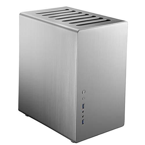Jonsbo RM2 Midi-Tower - Computergehäuse, PC Hülle, ITX ATX Gaming PC Case, Dezentes Design Computer Gehäuse Silber