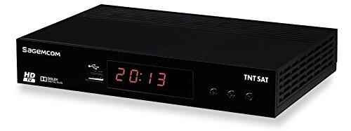 petit un compact SAGEMCOM – Récepteur TV satellite TNTSAT DS81HD HD – Noir