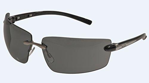 MSA Safety Alaska Smoke EN166 mit UV400 Filter - getönte Freizeit und Arbeitsschutzbrille mit weitem Sichtfeld