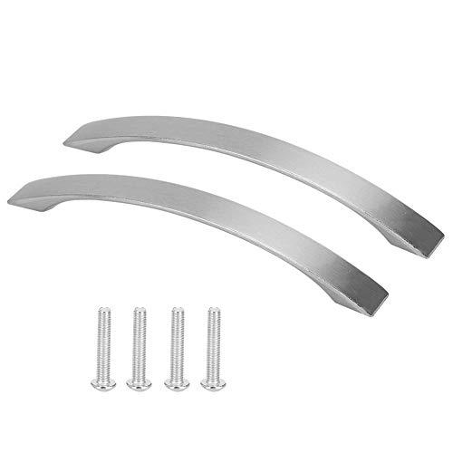 Tiradores de puerta de estilo moderno y simple Tirador de cajón Tirador vertical Gabinete de aleación de aluminio moderno Armario Armario Tirador de puerta Herrajes para muebles (5 pulgadas 2 piezas)