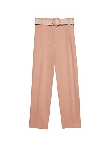 Motivi : Pantaloni Paper Bag con Cintura Rosa 38 (Italian Size)