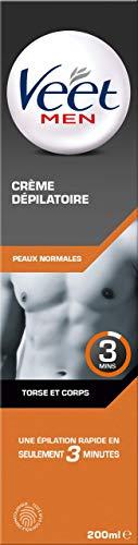 Veet Men - Crème Dépilatoire Homme - Peaux Normales - 200 ml