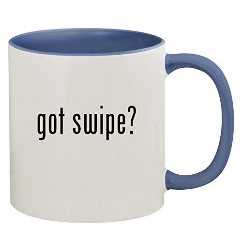got swipe? - 11oz Ceramic Colored Inside & Handle Coffee Mug, Cambridge Blue