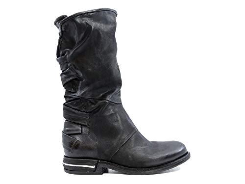 A.S. 98 516311 Damen-Stiefel aus schwarzem Leder, Schwarz - schwarz - Größe: 38 EU