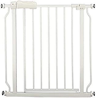 Auto Close Tension White Metal Child Pet Safety Gates Width Adjustable Children's Fence Baby Safety Door Fence