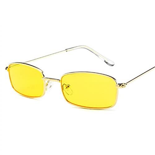 JWDS Gafas de Sol para Mujer Gafas De Sol Retro Hombres Rectángulos Pequeños Gafas De Sol Tonos Para Mujeres Gafas