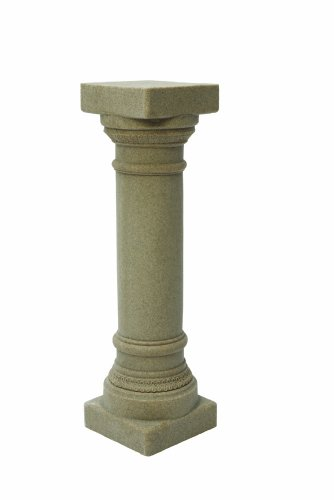 """EMSCO Group Greek Column Statue – Natural Sandstone Appearance – Made of Resin – Lightweight – 32"""" Height"""