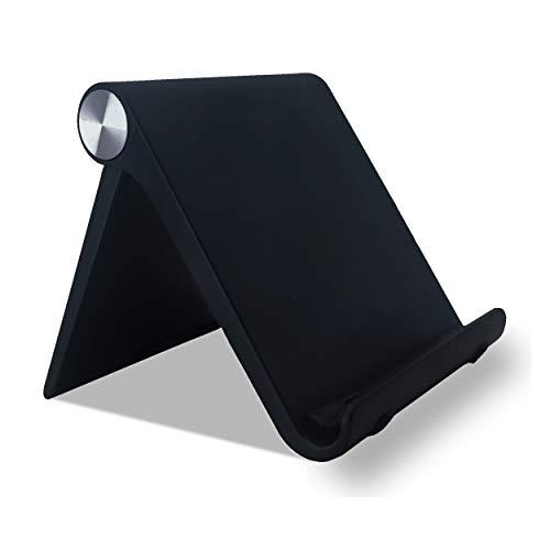 """Nuevo Soporte Universal Reforzado Ajustable para Móvil, Lector Libros Electrónico, Tablet 4""""-10.4"""" Multiángulo 0-100 grados,Diseño de Mesa,Apple (Iphone-Ipad) Samsung Huawei Xiaomi (Color Negro) )"""