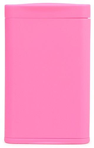 Dreams(ドリームズ) 携帯灰皿 ポケットアッシュトレイ スリム ハニカム 4本収納 ピンク MDL45286 高さ7.9cm×幅5.0cm×厚さ1.4cm
