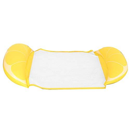 Anyutai - Hamaca hinchable para piscina, 4 en 1 [hamaca + tumbona + Drifter + sillín de ejercicio] para piscina, playa mar y naranja