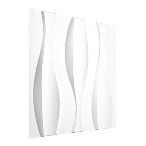 25 qm | 3D Platten Kunststoff | PVC Paneele | Wand- und Deckenverkleidung | Schlag- Stoss- und Wasserfest | Dekorplatten | 3 Dimensional | 50x50cm | HD026-1