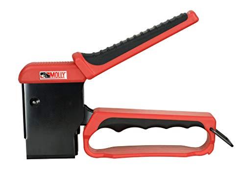 Molly M71921-XJ Valibox - Pinza para instalar tacos con 40 tacos, negro/rojo
