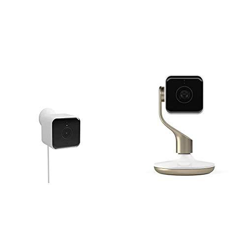Hogreat Cámara de Seguridad Cámara al Aire Libre, Blanco (Color : UK Outdoor Camera+Security Camera)