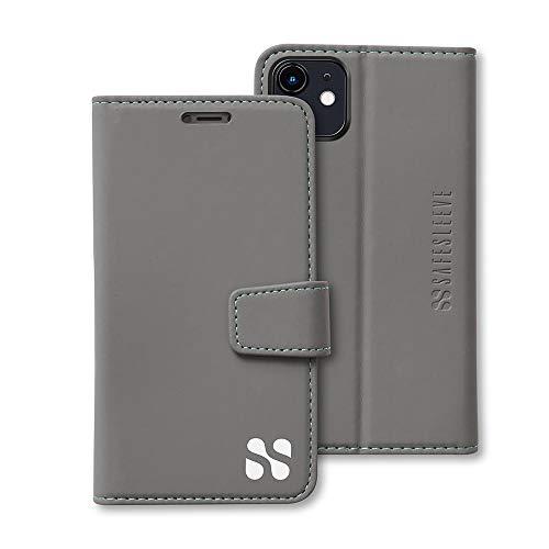 SafeSleeve EMF Protection Anti Radiation iPhone Case: iPhone 11 RFID EMF Blocking Wallet Cell Phone Case (Grey)