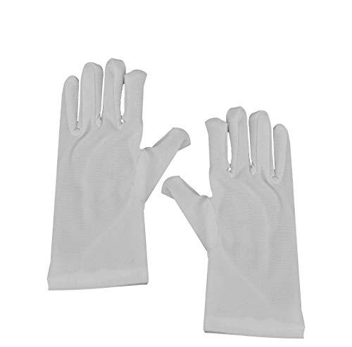 Dress Up America Unisex Pristine biały kostium bawełna rękawiczki dla dzieci rękawiczki wewnętrzne, rozmiar uniwersalny