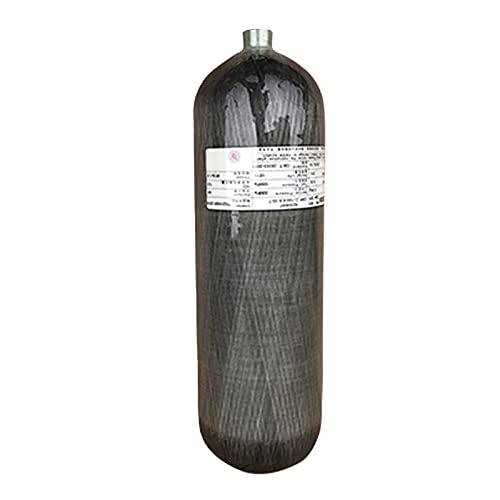 Cilindro compuesto de alta presión de 4500psi, tanque de fibra de carbono de 6.8L, tanque de aire PCP Paintball (botella vacía), M18 * 1.5