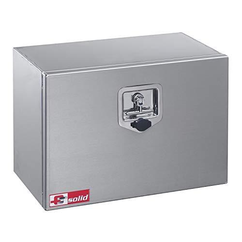 FTsolid 35l Unterflurbox aus Alu Anhängerkiste Staubox Gurtkiste Werkzeugkiste Staukasten Unterbaubox Box